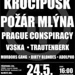 Třem-Fest 2014 - hudební festival Třemošná (Plzeň - sever) - Krucipusk, Pozar mlyna, Prague Conspiracy, V3ska, Trautenberk, Mordors Gang, Dirty Blondes, Adolpho - 01